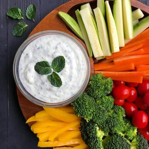 cheese dip with vegetable