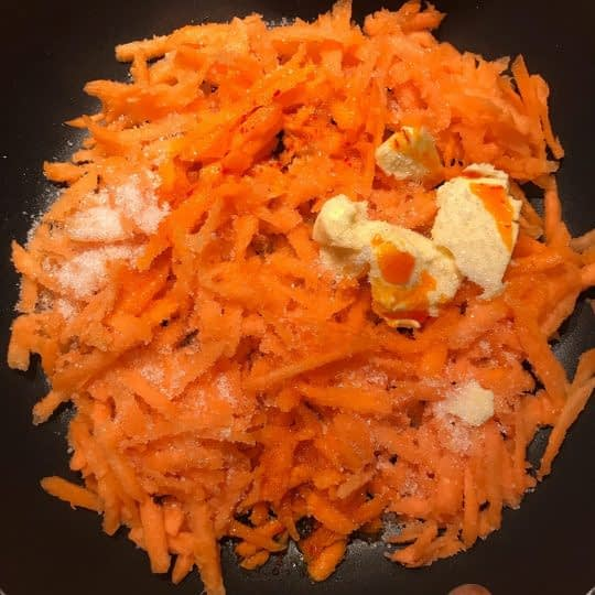 تفت دادن هویج