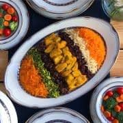 انواع غذا با مرغ و برنج