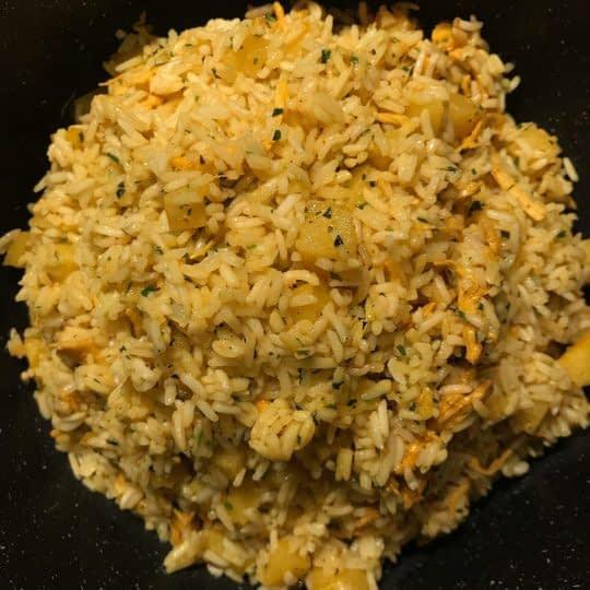 اضافه کردن مخلوط برنج