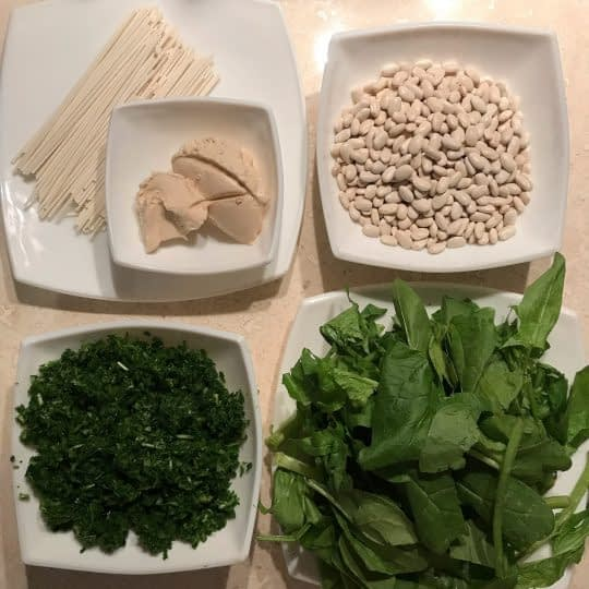 مواد لازم برای تهیه آش لوبیا
