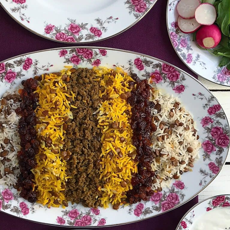 rice with lentil and meat