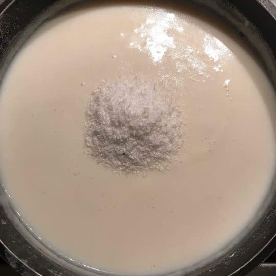 اضافه کردن پودر نارگیل