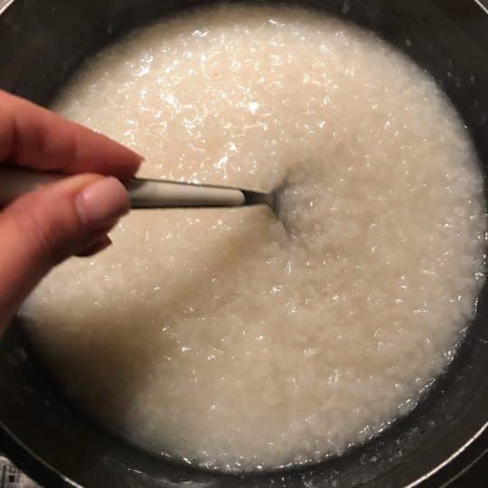 لعاب دادن برنج