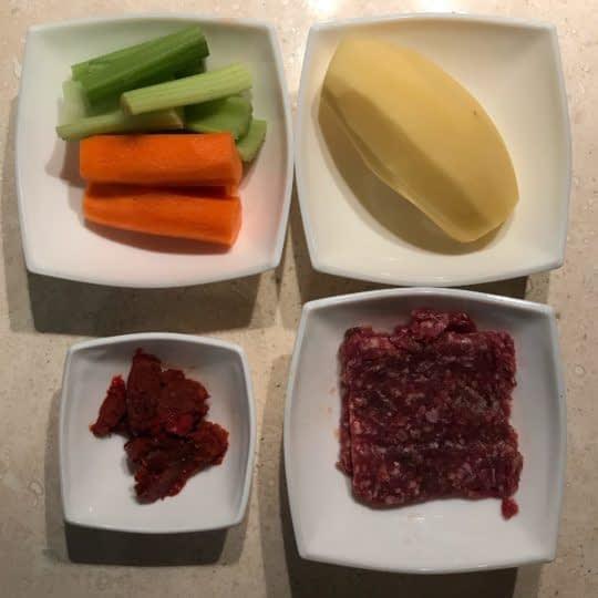 مواد لازم برای تهیه خوراک کله گنجشکی