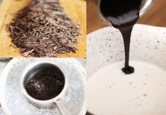 مراحل ذوب کردن شکلات