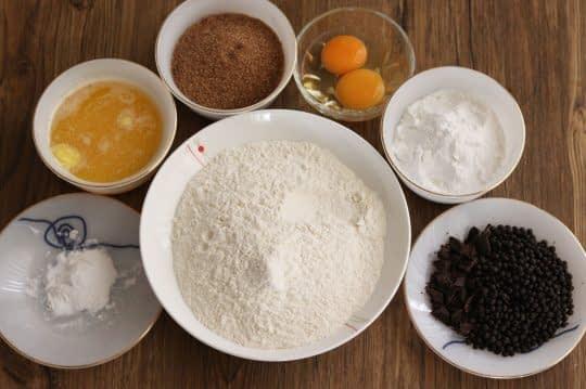 مواد لازم برای کوکی شکلاتی