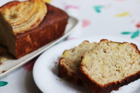 بافت کیک موز