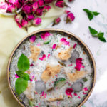 آبدوغ خیار با ماست ترش و سبزی های فریزری