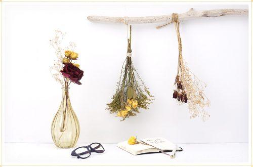تزئین با گل خشک