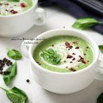 سوپ سبز خامه ای با اسفناج