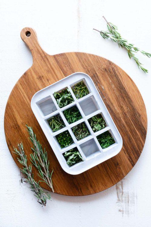 سبزی داخل قالب