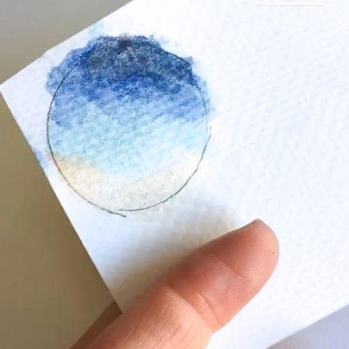 کشیدن قاب روی کاغذ و نقاشی کردن